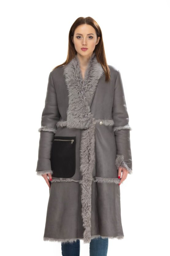 пальто кожаное CONNORNEWALL