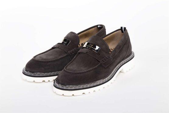 Туфли мужские замшевые DELAVE' CARBONE