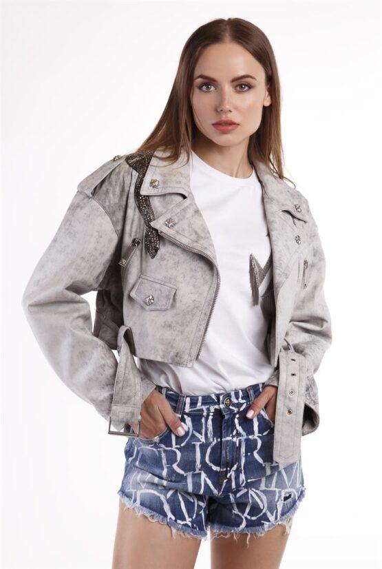 Куртка женская кожаная BENTOR (AP)
